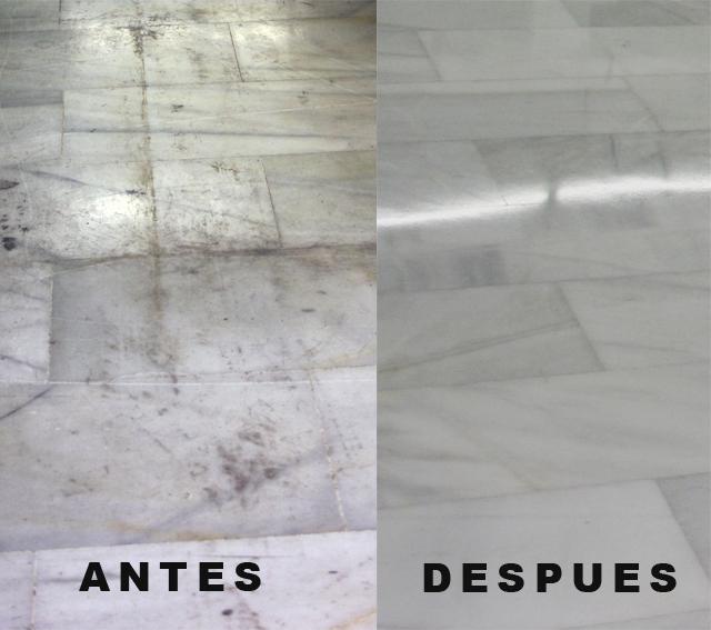 Trabajos de pulido de suelos realizados marmolpulido for Marmol travertino sin pulir